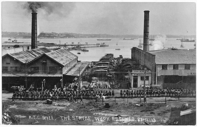 Kauri Timber Company, Freemans Bay, Auckland, and Massey's Special Constables, during the 1913 Waterfront Strike