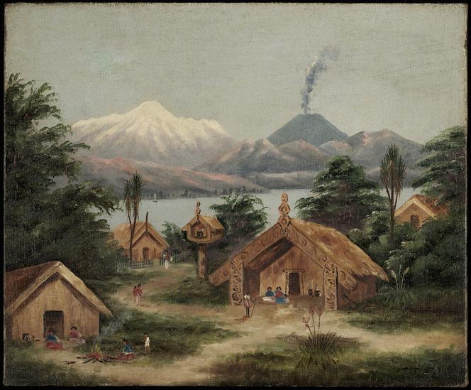 Backhouse, John Philemon, 1845-1908 :Lake Taupo, Hatepe [ca 1870]