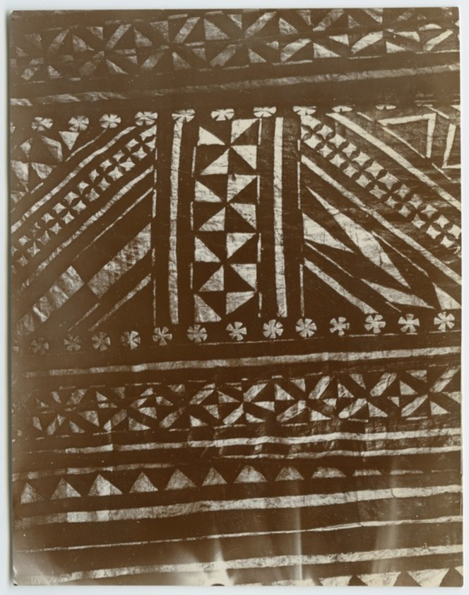 Detail of the patterns on a Fijian masi.