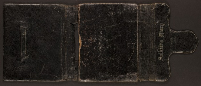 Cover of Dudley James Frederick Jeune's dis-bound diary.