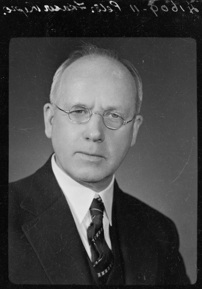 Head and shoulders portrait of Peter Fraser, circa 1940s.
