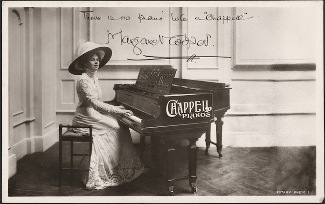Margaret Cooper with Chappell piano