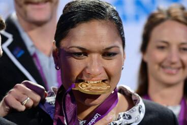 Image: Valerie Adams finally receives her gold medal