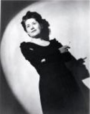 "Image: Ngaio Marsh photographed during the 1940s : ""Ngaio in the spotlight"""