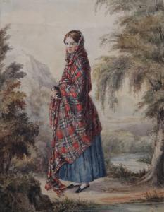 Image: Girl with a Plaid Shawl