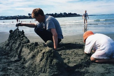 Image: Sand fort at Sumner beach