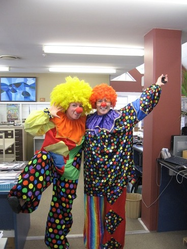 Image: Librarians clowning around