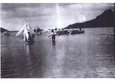 Image: Model Yacht sailing