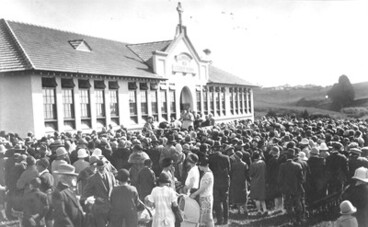 Image: Opening of St Joseph's School (PUke Ariki collection)