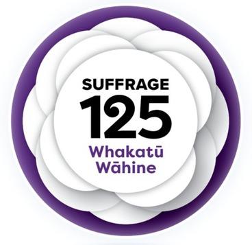 Image: Suffrage 125 Whakatu Wahine logo