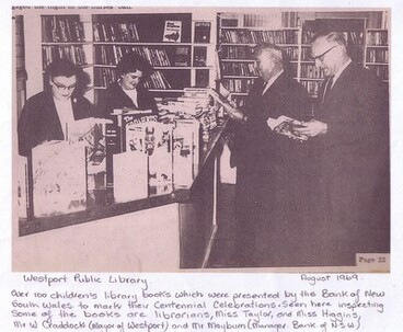Image: Westport Public Library 1969 - Librarians