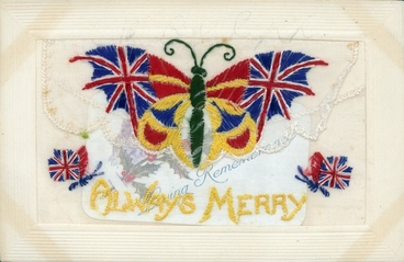 Image: 'Always Merry' : decorated postcard