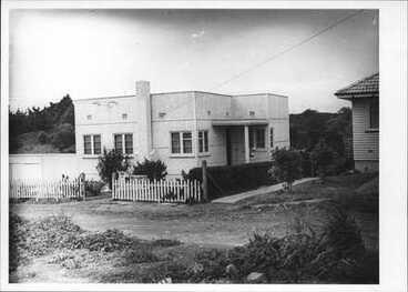 Image: Front Exterior Ellerslie House, scene of murder.
