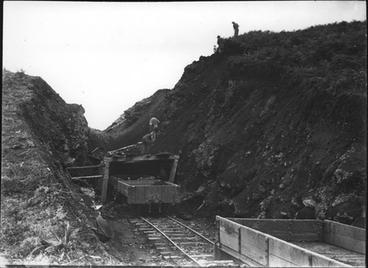 Image: Cutting in Kaikohe Railway.