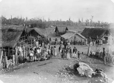 Image: Gathering of People at the Parihaka Pa, Taranaki.