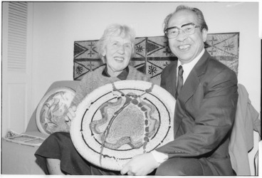 Image: Potters Imaemon Imaizumi and Doreen Blumhardt - Photograph taken by Dave Hansford