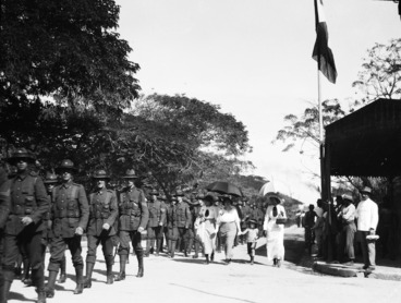 Image: New Zealand troops in Western Samoa, August, 1914