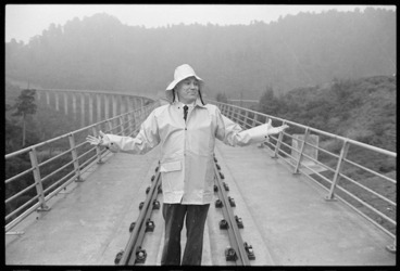 Image: Richard Prebble standing on the Hapuawhenua viaduct