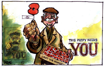 Image: Evans, Malcolm Paul, 1945- :This poppy needs YOU. 20 April 2012