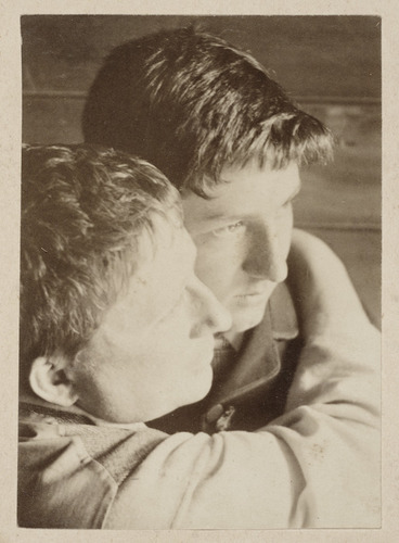 Image: Two men embracing