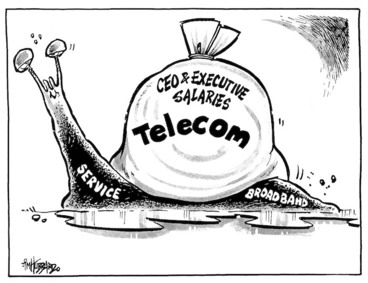 Image: Telecom - CEO & executive salaries, service, broadband. 31 August 2009