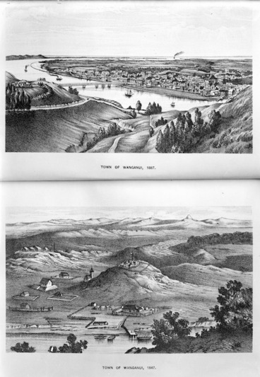 Image: Photographs of two lithographs of Wanganui