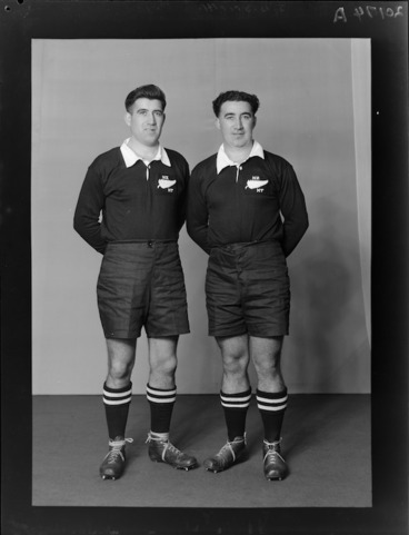 Image: Mr J B Smith and Mr P Smith, representatives of the New Zealand Maori and All Blacks rugby union teams