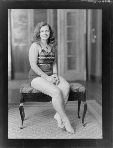 Image: Miss Mercedes Gleitze, English endurance swimmer