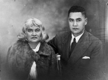 Image: Schmidt Studio (Photographer) : Princess Te Kirihaehae Te Puea Herangi and her husband Rawiri Tumokai Katipa