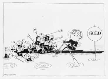 Image: Heath, Eric Walmsley 1923-:[Rowing Gold] The Dominion, 12 September 1972.