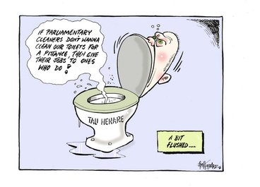 Image: Hubbard, James, 1949- :A bit flushed... 2 October 2013