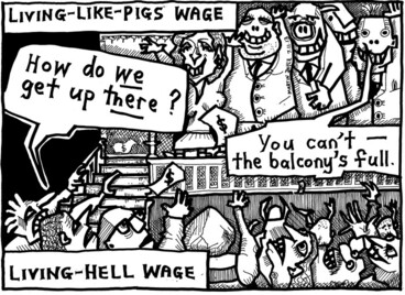 Image: Doyle, Martin, 1956- :Living wages. 8 November 2013