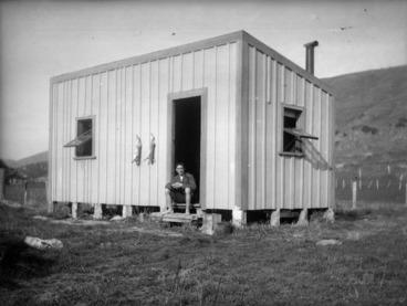 Image: Caldwell's bach on Hawkins farm, Makara