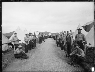 Image: Soldiers in the Armed Constabulary redoubt at Kawhia