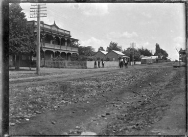 Image: View of the main street in Kaikohe, 1918.