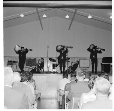 Image: Howard Morrison Quartet with Quin Tikis at Ngaruawahia Festival of the Arts; main street Ngaruawahia