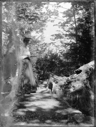 Image: Woman in garden