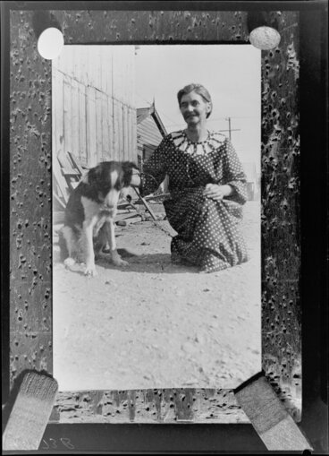 Image: Unidentified woman with dog