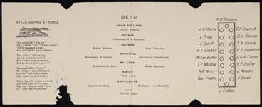 Image: [Wellington Club]: Farewell dinner to Mr J C Hanna. [Wellingt]on Club, July 4, 1896. Menu