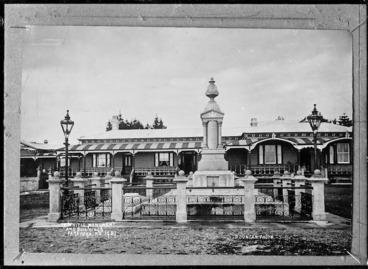 Image: Te Whiti's monument, Parihaka, Taranaki - Photograph taken by David Duncan