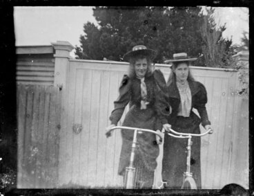 Image: Two girls on bicycles