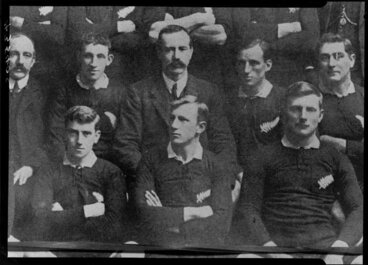 Image: Unidentified All Blacks, New Zealand representative rugby union team