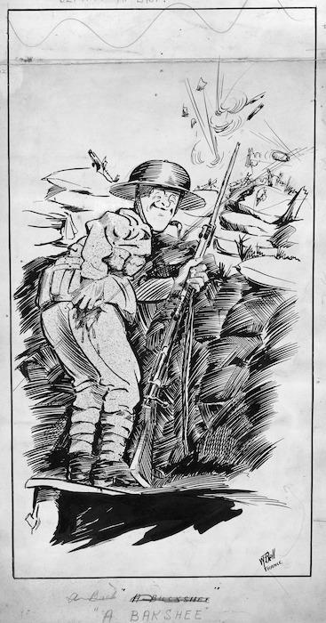 Image: Bell, William Frederick, 1896-1920 :A bakshee. Blighty at last! France [1916?]