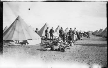 Image: Military camp during World War I, probably Egypt