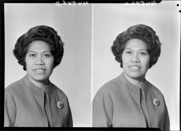 Image: Unidentified Polynesian woman [two images]