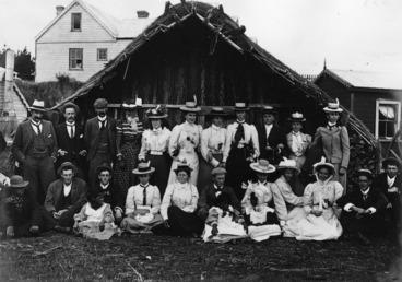 Image: Group of visitors at Parihaka