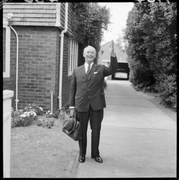 Image: Prime Minister Keith Holyoake on his 60th birthday