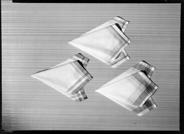 Image: Three folded handkerchiefs
