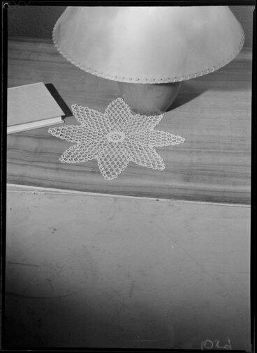 Image: Book, lamp & doyley