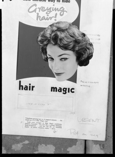 Image: Advertisement for Hair Magic hair dyes